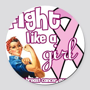 fightlikeagirl Round Car Magnet