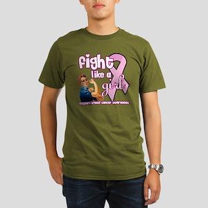 fightlikeagirl Organic Men's T-Shirt (dark)