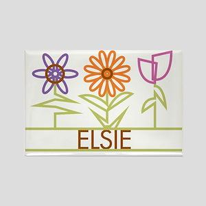ELSIE-cute-flowers Rectangle Magnet