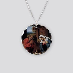 nativity2 Necklace Circle Charm