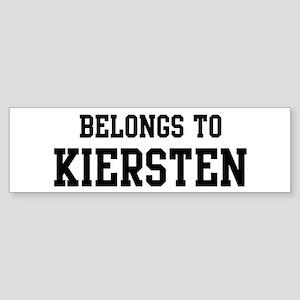 Belongs to Kiersten Bumper Sticker
