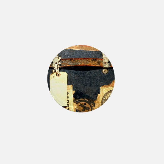 steampunk luggage Mini Button