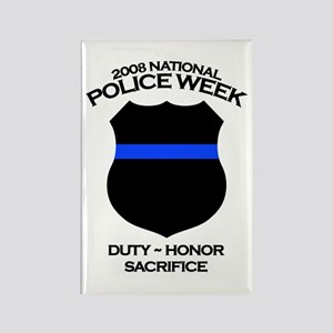 Police Week 1 Rectangle Magnet