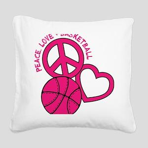 P,L,Basketball, melon Square Canvas Pillow