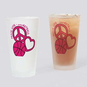 P,L,Basketball, melon Drinking Glass