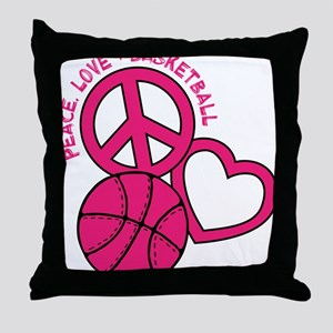 P,L,Basketball, melon Throw Pillow