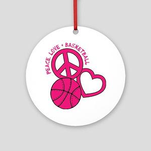 P,L,Basketball, melon Round Ornament