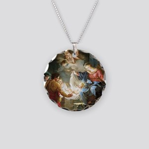 nativity4 Necklace Circle Charm