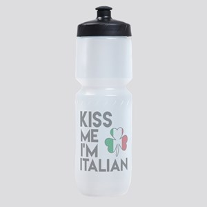 KISS ME I'M ITALIAN Sports Bottle