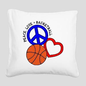 P,L,Basketball, multi Square Canvas Pillow