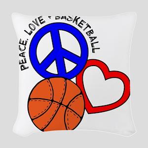 P,L,Basketball, multi Woven Throw Pillow