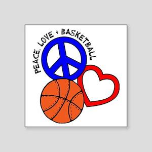 """P,L,Basketball, multi Square Sticker 3"""" x 3"""""""