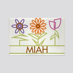 MIAH-cute-flowers Rectangle Magnet