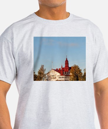 Helsinki, Finland. House on hill by  T-Shirt