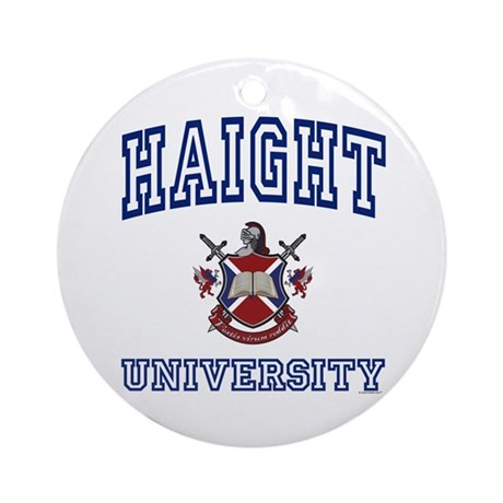 HAIGHT University Ornament (Round)