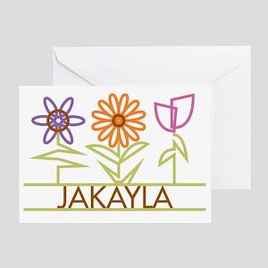 JAKAYLA-cute-flowers Greeting Card