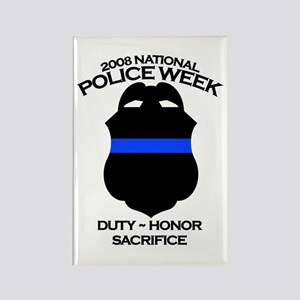 Police Week 2 Rectangle Magnet