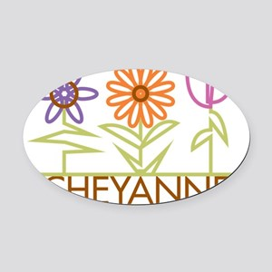 CHEYANNE-cute-flowers Oval Car Magnet