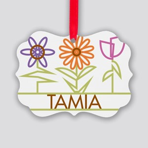 TAMIA-cute-flowers Picture Ornament
