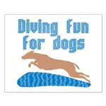 Diving Dog Small Poster