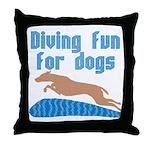 Diving Dog Throw Pillow
