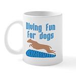 Diving Dog Mug