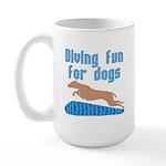 Diving Dog Large Mug