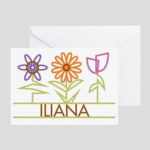 ILIANA-cute-flowers Greeting Card
