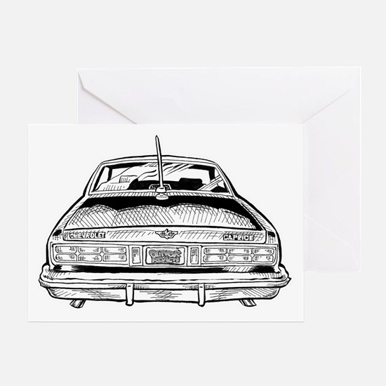 Car Shirt Back  Greeting Card