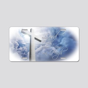 Lord-I-Lift-Your-Name Aluminum License Plate