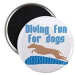 Diving Dog Magnet