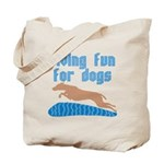 Diving Dog Tote Bag