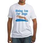 Diving Dog Fitted T-Shirt
