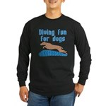 Diving Dog Long Sleeve Dark T-Shirt