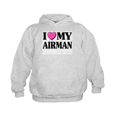 I Heart ( Love ) My Airman Kids Hoodie