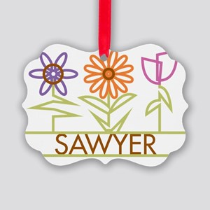 SAWYER-cute-flowers Picture Ornament