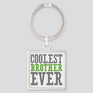 Coolest Brother Square Keychain