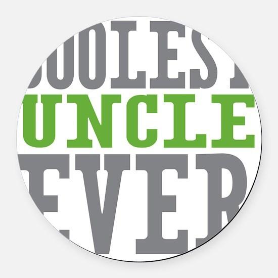 Coolest Uncle Round Car Magnet