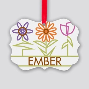 EMBER-cute-flowers Picture Ornament