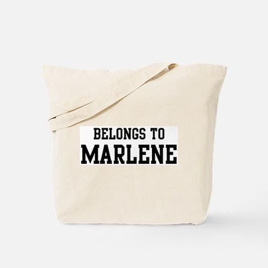 Belongs to Marlene Tote Bag
