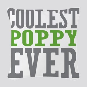 Coolest Poppy Woven Throw Pillow