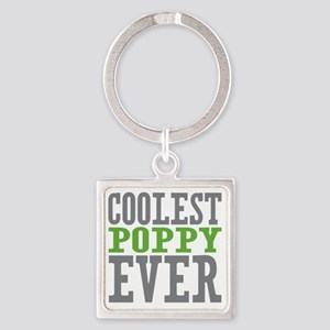 Coolest Poppy Square Keychain
