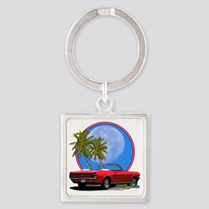 Mustang in moonlight Square Keychain