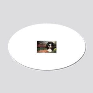 godmadedogs(laptop) 20x12 Oval Wall Decal