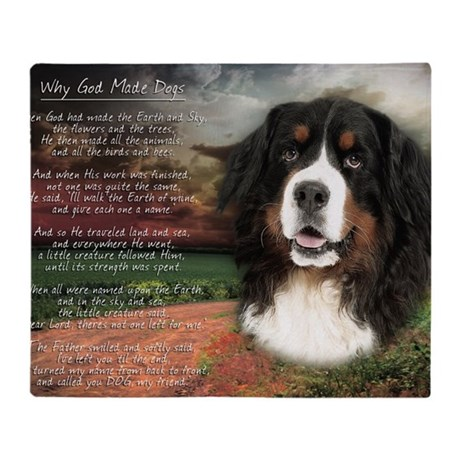 GOD MADE DOGS THROW BLANKET