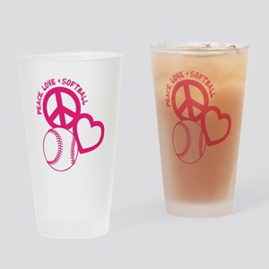 P,L,Softball, melon Drinking Glass