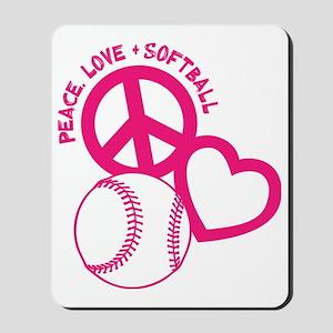 P,L,Softball, melon Mousepad
