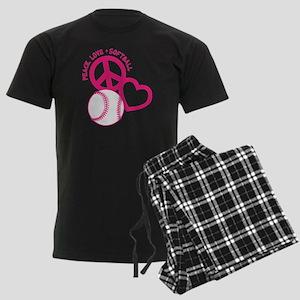 P,L,Softball, melon Men's Dark Pajamas