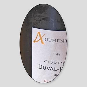 A single grape variety champagne fr Sticker (Oval)