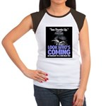 Look Whos Coming in February Women's Cap Sleeve T-